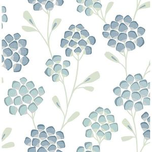2785-24800 Scandi Flora Aqua Brewster Wallpaper
