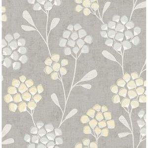 2785-24863 Scandi Flora Citrine Brewster Wallpaper