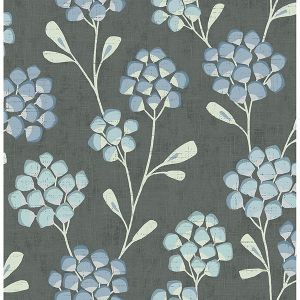 2785-24801 Scandi Flora Graphite Brewster Wallpaper