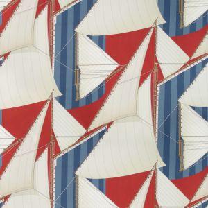 2018136-195 ST TROPEZ PRINT Red Blue Lee Jofa Fabric