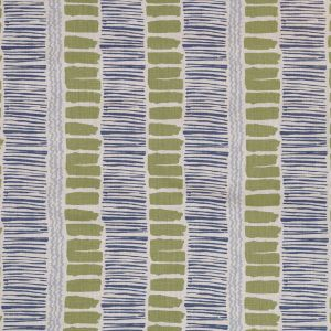 Lee Jofa Saltaire Lime Indigo Blue Fabric