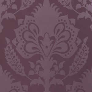 GWP-3401-10 MALATESTA DAMASK Aubergine Groundworks Wallpaper