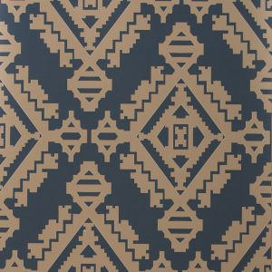 GWP-3407-506 NAVAJO Indigo Groundworks Wallpaper