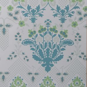 GWP-3409-53 DRUMMOND DAMASK Sea Glass Groundworks Wallpaper