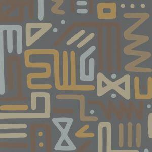 FG087-A103 RAIN DANCE Charcoal Mulberry Home Wallpaper