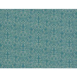 GWF-3512-5 GARDEN REVERSE Cornflower Groundworks Fabric