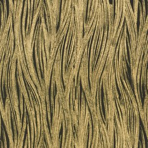 GWP-3305-48 CURRENTS PAPER Ebony Gold Groundworks Wallpaper