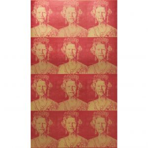 GWP-3707-194 HM GILT Red Gold Groundworks Wallpaper