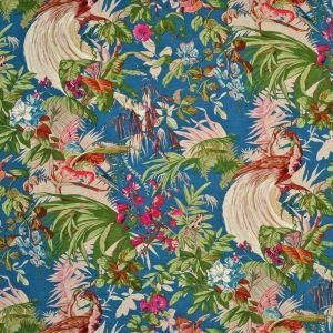 LCF68145F SANCTUARY FLORAL Caribbean Blue Ralph Lauren Fabric