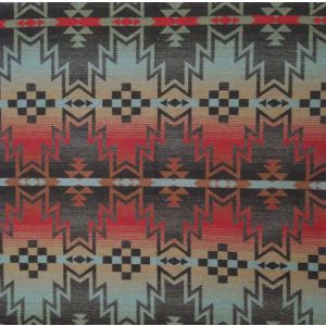 LFY66081F TRIBAL FAIR BLANKET Turquoise Ralph Lauren Fabric