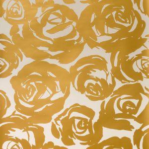 W3326-4 DECO FLORAL Gold Kravet Wallpaper
