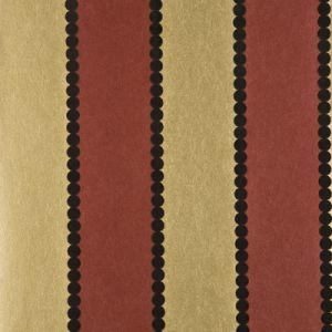 BW45003-1 VALENTINO STRIPE FLOCK Red Gold GP & J Baker Wallpaper