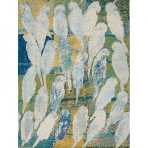 GWF-3407-135 BAYOU CASINO Aqua Maize Groundworks Fabric