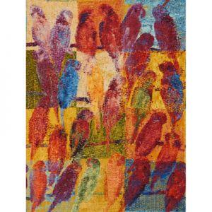 GWF-3407-953 BAYOU CASINO Multi Red Groundworks Fabric