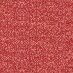 GWF-3512-7 GARDEN REVERSE Cerise Groundworks Fabric