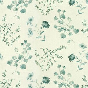 GWF-3515-13 FLOURISH Aqua Groundworks Fabric
