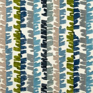 GWF-3709-5113 FRACTAL VELVET Blue Green Groundworks Fabric