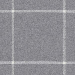 LCF65791F WESTCLIFF TATTERSAL Grey Flannel Ralph Lauren Fabric