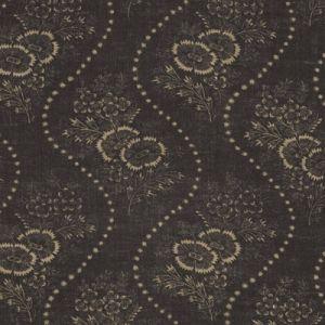 LFY65635F ETIENNE FLORAL STRIP Vintage Black Ralph Lauren Fabric