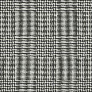 LFY66027F WESSEX GLEN PLAID Black White Ralph Lauren Fabric