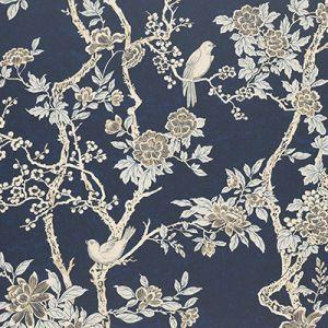 LWP30570W MARLOWE FLORAL Prussian Blue Ralph Lauren Wallpaper