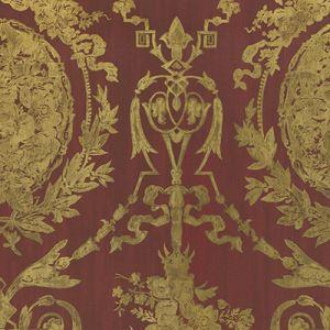 LWP50927W ABBEYWOOD DAMASK Balmoral Red Ralph Lauren Wallpaper