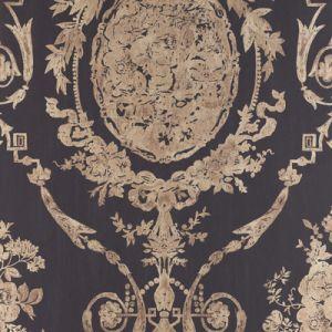 LWP65707W ABBEYWOOD DAMASK Gilded Ebony Ralph Lauren Wallpaper