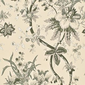LWP68582W YARMOUTH FLORAL Pewter Ralph Lauren Wallpaper