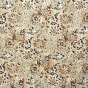 2007159-57 WOODCUT Indigo Coral Lee Jofa Fabric