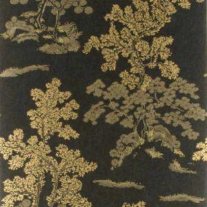 BW45001-1 ORIENTAL TREE EFFECTS Ebony GP & J Baker Wallpaper