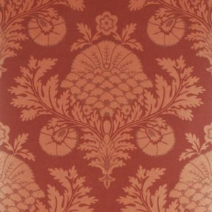 FG052-M29 PALACE DAMASK Copper Red Mulberry Home Wallpaper