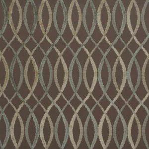Groundworks Infinity Taupe Aqua Fabric