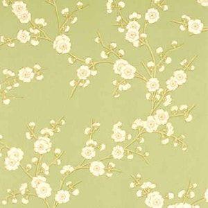 BW45008-5 BLOSSOM Green Cream GP & J Baker Wallpaper