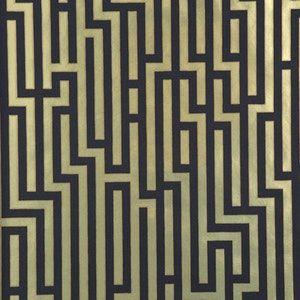 BW45013-2 FRETWORK FOIL Black Gold GP & J Baker Wallpaper