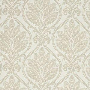 BW45048-4 RYECOTE DAMASK Ivory Linen GP & J Baker Wallpaper