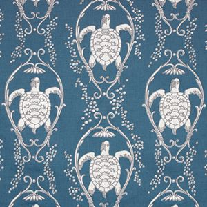TURTLE BAY Prussian Blue Katie Ridder Fabric
