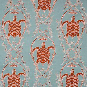 TURTLE BAY Seafoam Katie Ridder Fabric