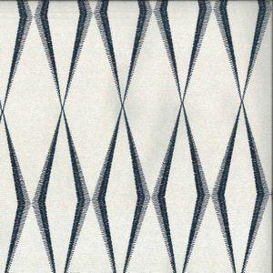 ZIG ZAG Navy Norbar Fabric