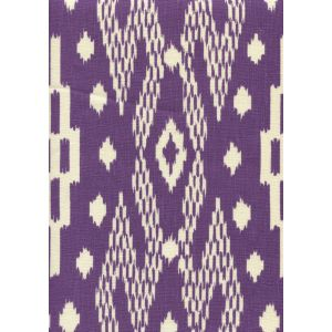 7610-10 ANDROS BATIK Purple on Tinted Linen Custom Only Quadrille Fabric