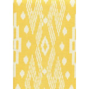 7610-06 ANDROS BATIK Yellow on Tinted Linen Custom Only Quadrille Fabric