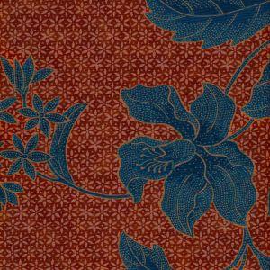 6550-03 ANTIK BATIK Camels Blues Quadrille Fabric