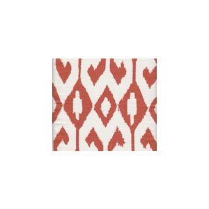 7230-05 AQUA II Rust on White Quadrille Fabric