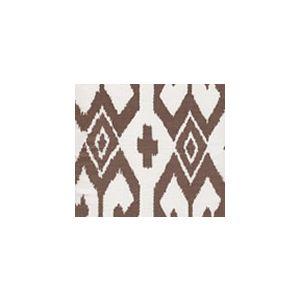 7230-06 AQUA II Brown on White Quadrille Fabric
