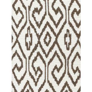 7240-06 AQUA IV Brown on White Quadrille Fabric