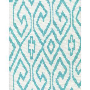 7240-04 AQUA IV Turquoise on White Quadrille Fabric
