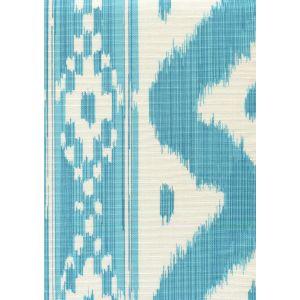 2020-04 BALI HAI Turquoise on Tint Quadrille Fabric