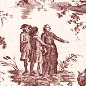 1348-05 BALLON DE GONESSE TOILE Bistre Quadrille Fabric