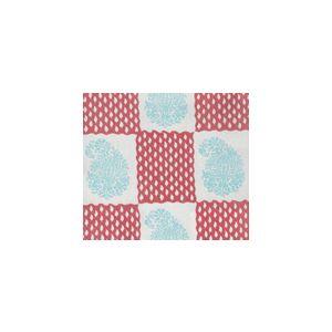 5090-04SUN BANGALORE New Blue New Shrimp Quadrille Fabric