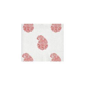 6040-04WSUN BANGALORE PAISLEY New Shrimp on White Quadrille Fabric