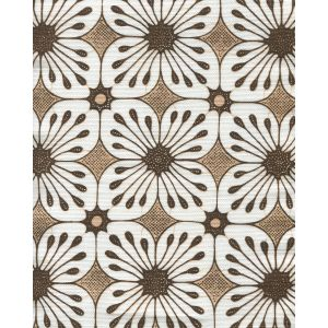 8250-08 BARBADOS BATIK Brown Tan on White Quadrille Fabric